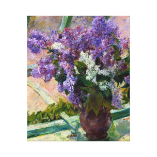 Mary Cassatt Lilacs in a Window Canvas Print