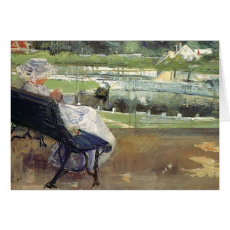 Mary Cassatt- Lydia Sitting on a Porch, Crocheting Card