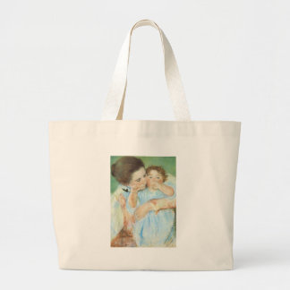 Mary Cassatt - Mother and Child Jumbo Tote Bag
