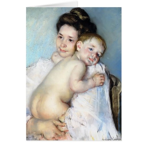 Mary Cassatt- Mother Berthe Holding Her Baby Cards