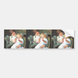 Mary Cassatt: Pattycake Bumper Sticker