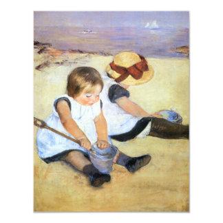 Mary Cassatt Playing on the Beach Invitations