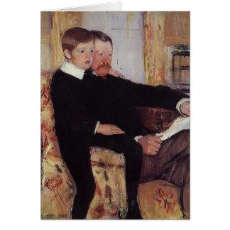 Mary Cassatt-Portrait of Alexander J.Cassat & Son Card