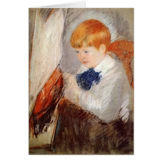 Mary Cassatt: Robert and His Sailboat Card