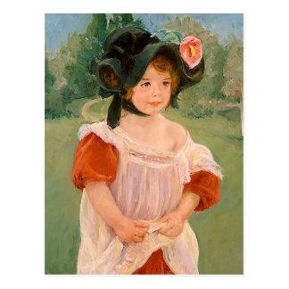 """Mary Cassatt """"Spring: Margot Standing in a Garden"""" Postcard"""