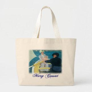 Mary Cassatt - The Boating Party Jumbo Tote Bag