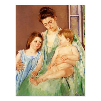 Mary Cassatt- Young Mother and Two Children Postcard