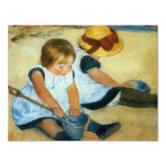 Mary Cassatt's Children on the Beach  (1884) Card