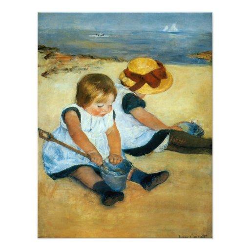 Mary Cassatt's Children on the Beach  (1884) Personalized Invitations