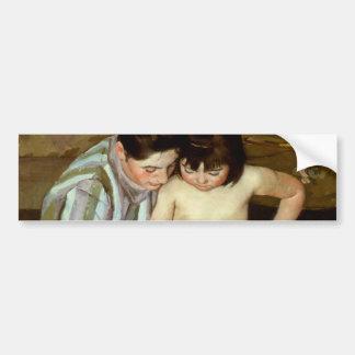 Mary Cassatt's The Child's Bath (circa 1892) Bumper Sticker