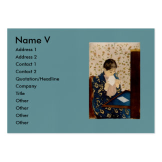 Mary Cassatt's The Letter (circa 1891) Pack Of Chubby Business Cards
