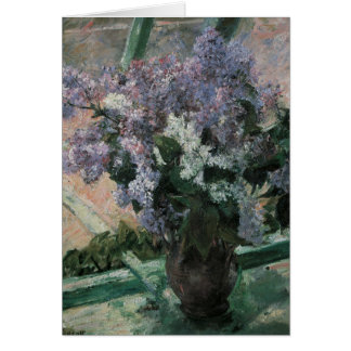 Mary Cassett Floral Fine Art Blank Note Card