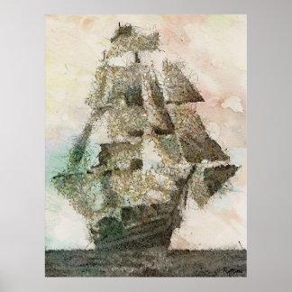 Mary Celeste -vintage art Poster