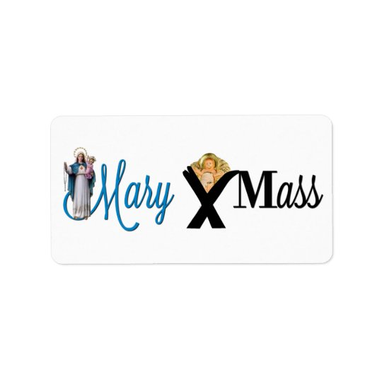 Mary Christ Child Manger Christmas Address Label