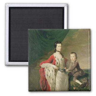 Mary, Countess of Shaftsbury and her Son Square Magnet