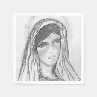 Mary Crying Disposable Serviette
