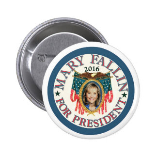 Mary Fallin for President 2016 6 Cm Round Badge