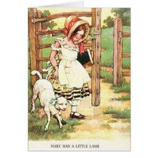 Mary Had a Little Lamb, Card