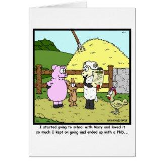Mary had a little lamb... card