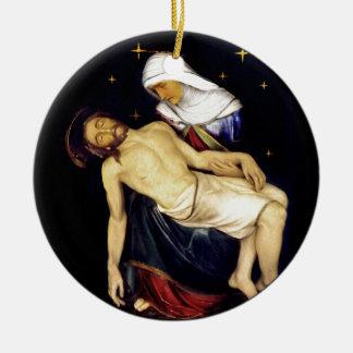 Mary Holding Jesus Ceramic Ornament