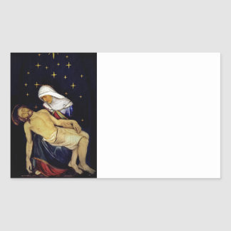 Mary Holding Jesus Rectangular Sticker