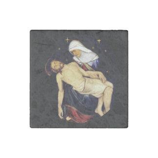 Mary Holding Jesus Stone Magnet