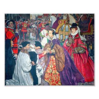 Mary I and Elizabeth I Print