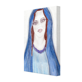 Mary In Blue Canvas Print
