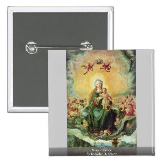 Mary In Glory By Altdorfer Albrecht Button