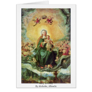 Mary In Glory By Altdorfer, Albrecht Cards