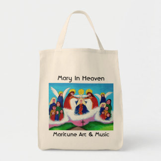 Mary In Heaven Tote Bag
