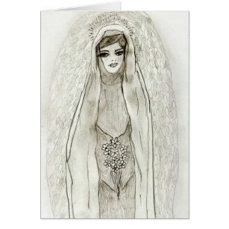Mary in the Grotto Card
