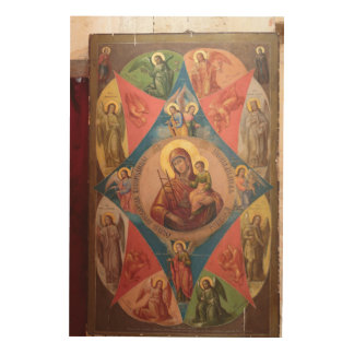 Mary, Jesus, And Angels Wood Wall Art