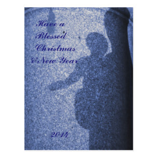 Mary & Jesus Blessed Christmas 2014 Postcard