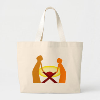 Mary Joseph And Baby Jesus Large Tote Bag