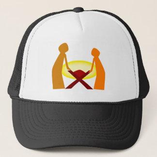 Mary Joseph And Baby Jesus Trucker Hat