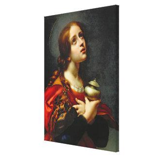 Mary Magdalene, 1660-70 (oil on canvas) Canvas Print