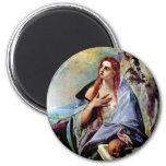 Mary Magdalene 6 Cm Round Magnet