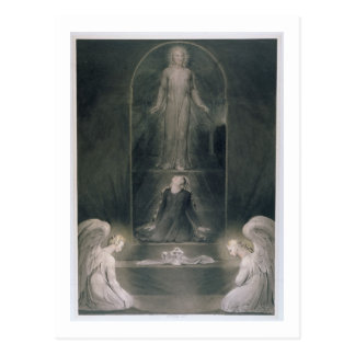 Mary Magdalene at the Sepulchre, c.1805 (w/c and p Postcard