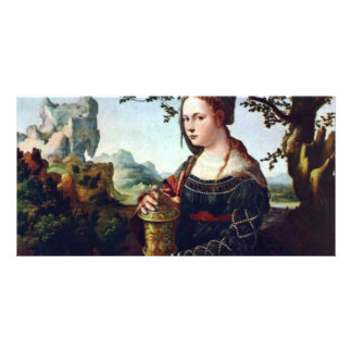Mary Magdalene. By Jan Van Scorel  (Best Quality) Photo Card Template