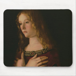 Mary Magdalene, detail from the Virgin and Child w Mouse Pad