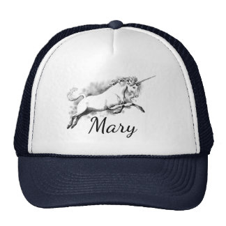 Mary Magical Unicorn Trucker Hat, or your name Cap