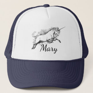 Mary Magical Unicorn Trucker Hat, or your name Trucker Hat