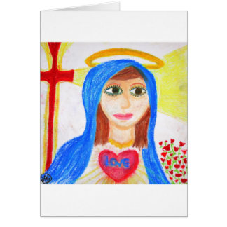 Mary, Mother of Love Greeting Cards