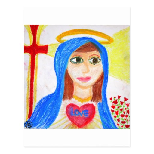 Mary, Mother of Love Post Cards