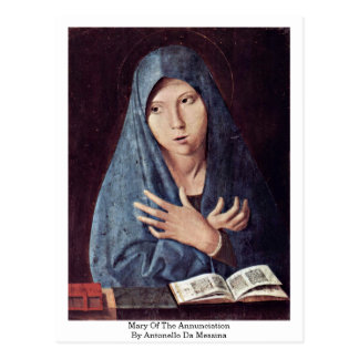 Mary Of The Annunciation By Antonello Da Messina Postcard
