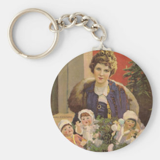 Mary Pickford Christmas-themed magazine cover Key Ring