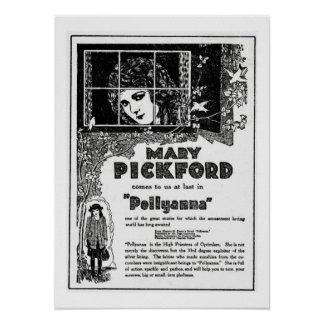 Mary Pickford Pollyanna Movie Ad Print