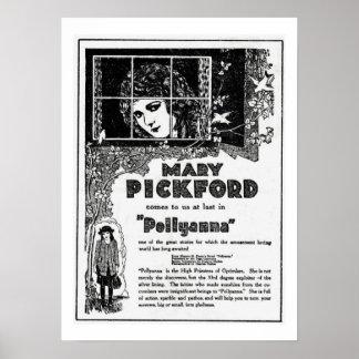 Mary Pickford Pollyanna Movie Ad Print