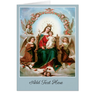 Mary Queen of Heaven Angels Card